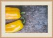 Moldura amarela riscada com friso prata-1009-3