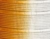 Moldura amarela e branca de 4 cm-1023-2