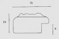 Moldura Trabalhada Prateada de 3.1 cm-1045-1
