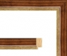 Moldura Castanha com friso dourado de 3.1 cm-16-3