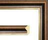 Moldura Castanha com friso dourado-64-3