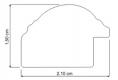 Moldura Castanha de 2 tons de 2.1 cm-99-1