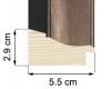 Moldura Preta e Bronze de 5.5 cm-H54-1