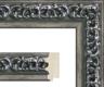 Moldura Trabalhada Prata Escura de 5 cm-Molduras63-3