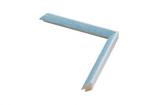 Moldura Azul e Branco de 1.6 cm