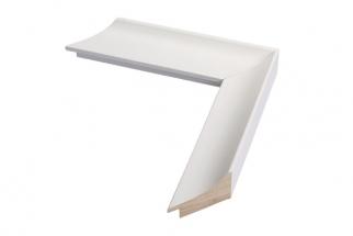 Moldura Branca Côncava de 4 cm