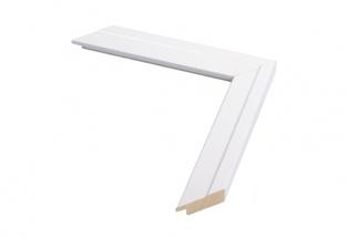 Moldura branca brilhante de 3 cm